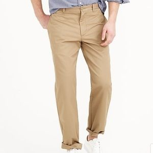 J. Crew Mens Beige Regular Fit Khakis